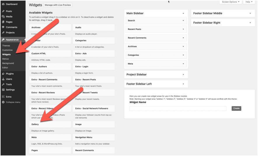 WordPress Gallery Widget
