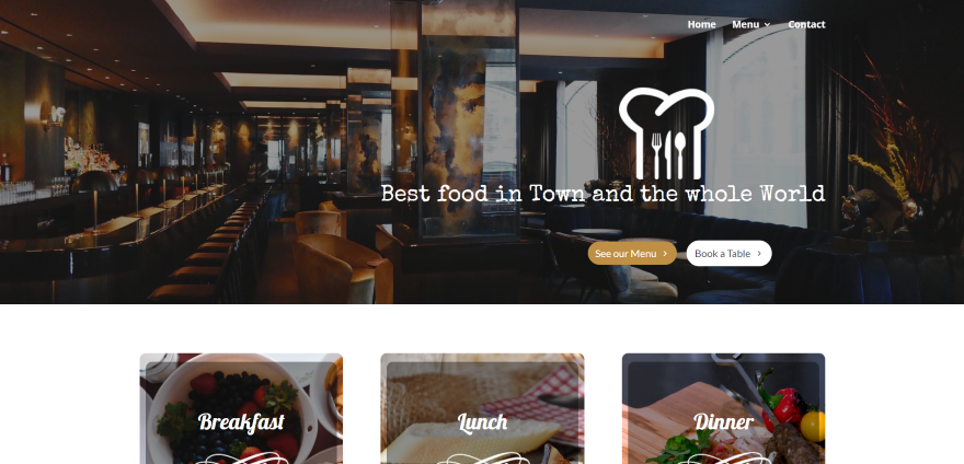 Premium divi layouts for hospitality websites elegant