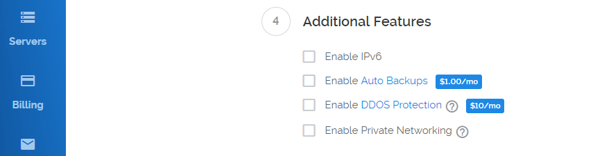 Configuring additional features for your VPS.