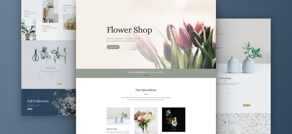 Download The Free and Lovely Florist Layout Pack for Divi