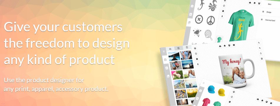The Fancy Product Designer homepage.