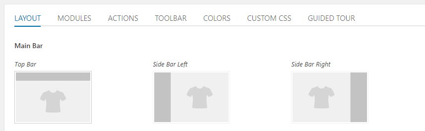 Changing the location of your main bar.