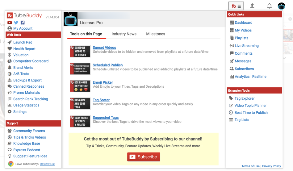 video seo tubebuddy extension