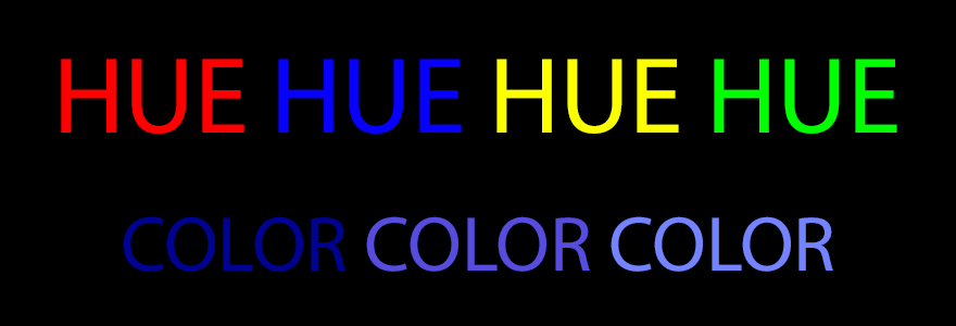 design terms hue vs color