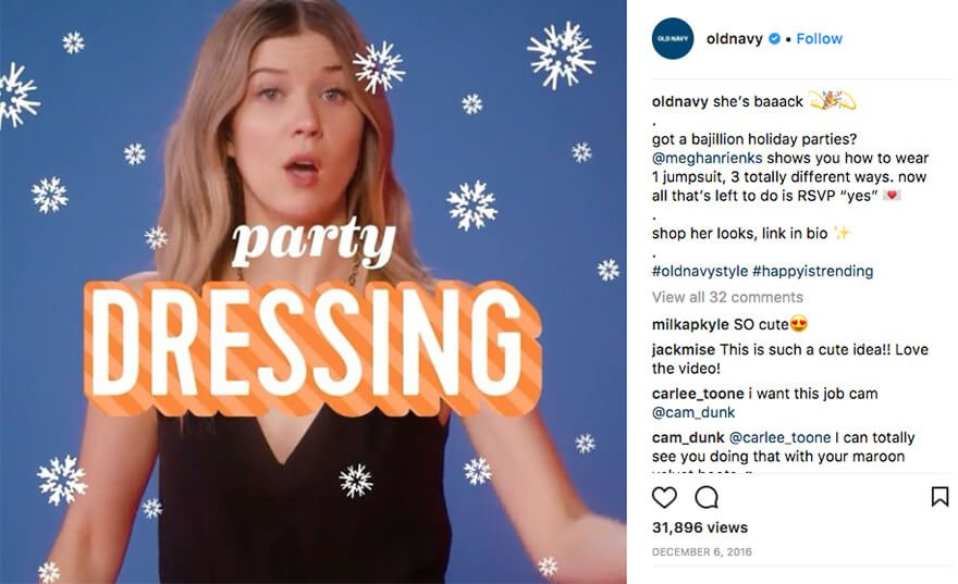 Old Navy Instagram