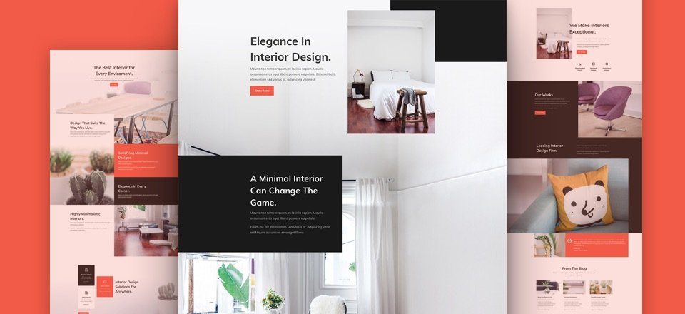 Download A Free U0026 Refreshing Interior Design Layout Pack For Divi