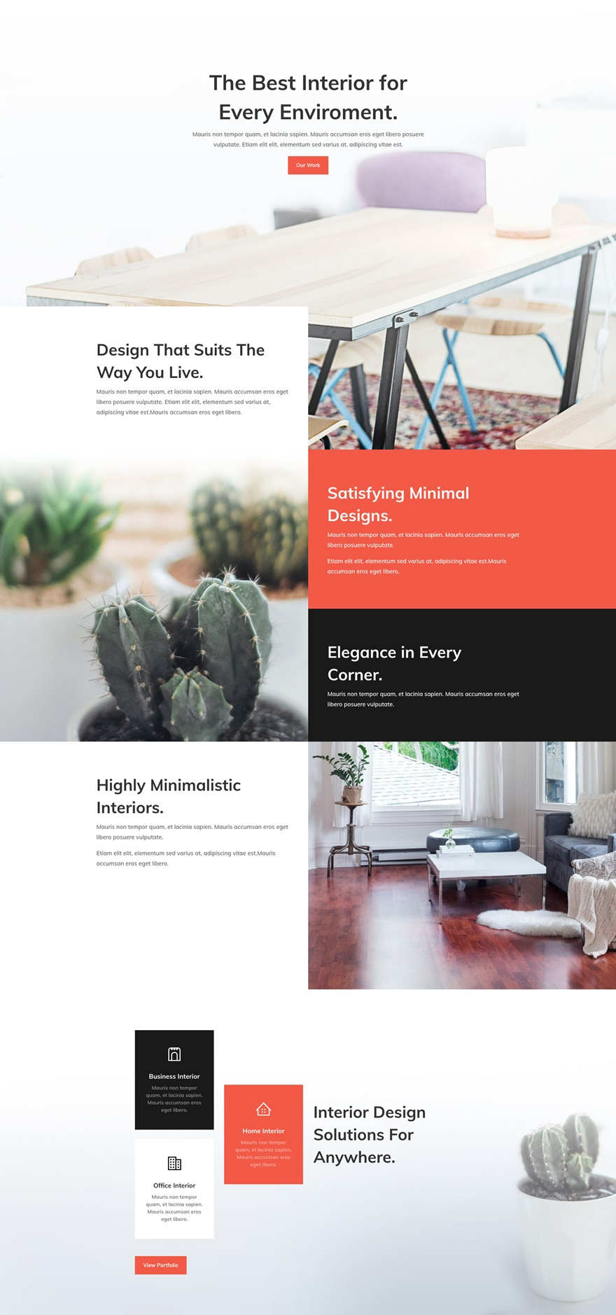 Download a free refreshing interior design layout pack for Interior design services