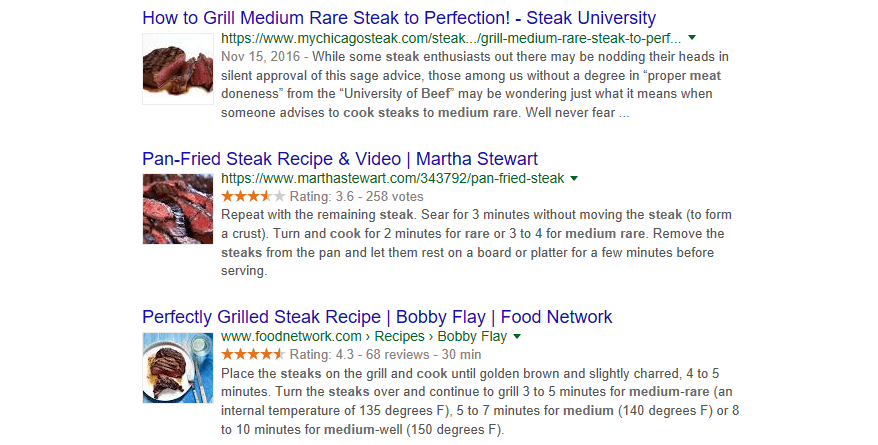 Other results that explain how to cook a steak.