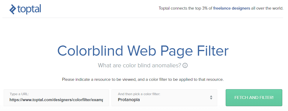 The Toptal Color Blind Filter.