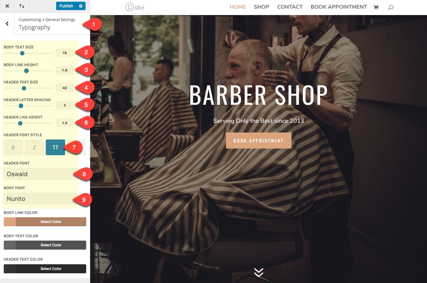 How to Build a Barbershop Website with Divi - Ask the