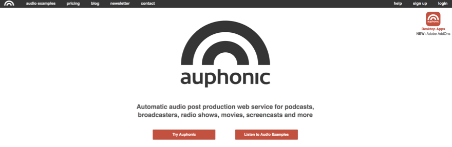 auphonic podcast software