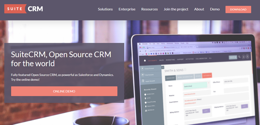 open source crm soft ware - Suite CRM