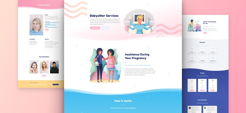 Get a Charming FREE Babysitter Layout Pack for Divi