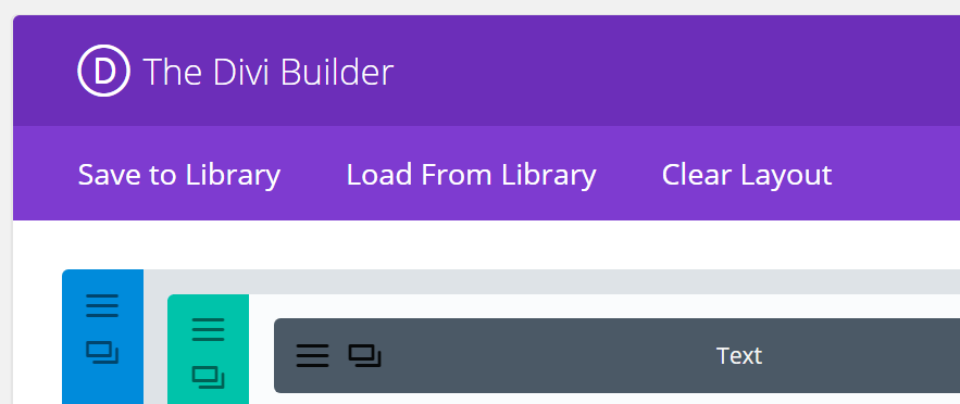 The Divi Builder.
