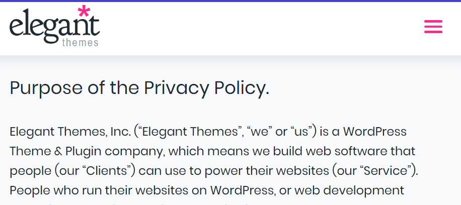 The Elegant Themes privacy policy.