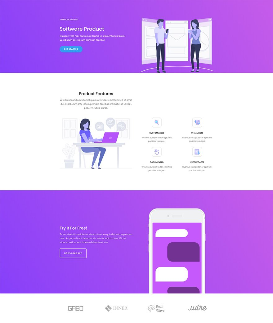 Megamad Website Design Marketing: Download A Free & Magnificent Software Marketing Layout