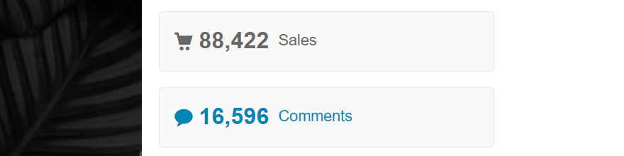 Checking out the overall sales for a ThemeForest theme.