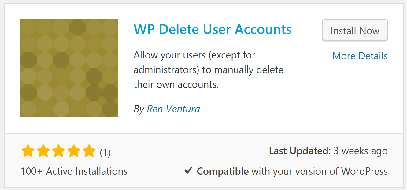 The WP Delete User Accounts plugin.
