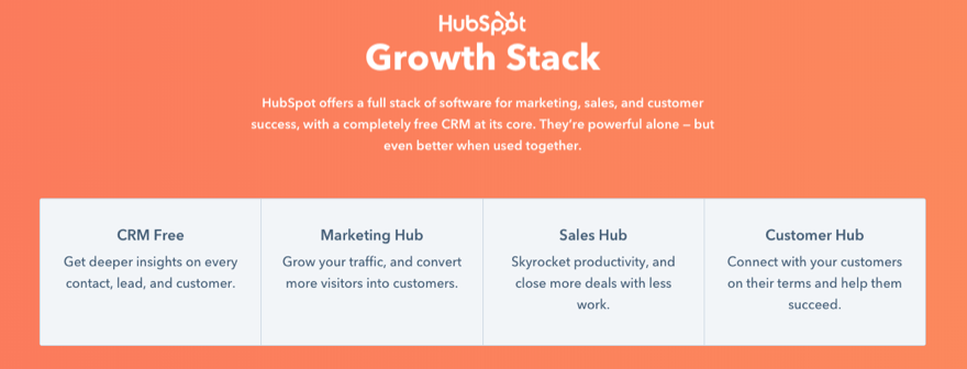 hubspot crm growth stack