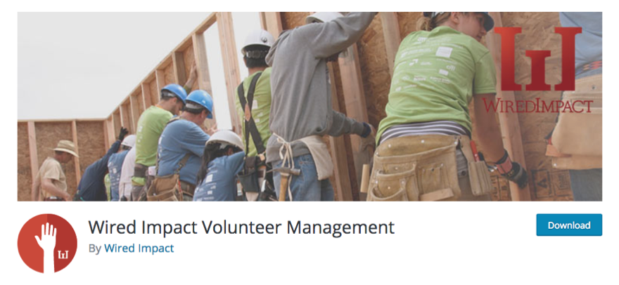 wired impact volunteer management on wordpress plugin repository