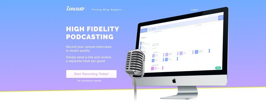 zencastr podcasting interview software