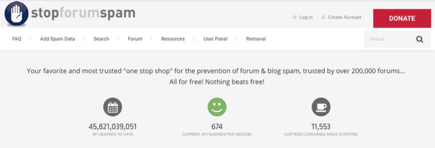 stop forum spam