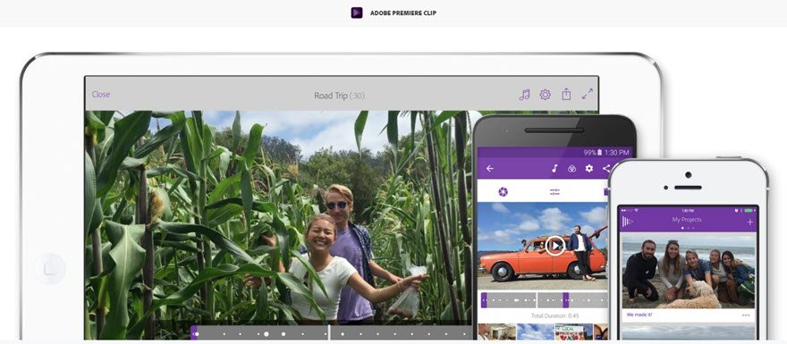 adobe premiere clip free mobile video editing software