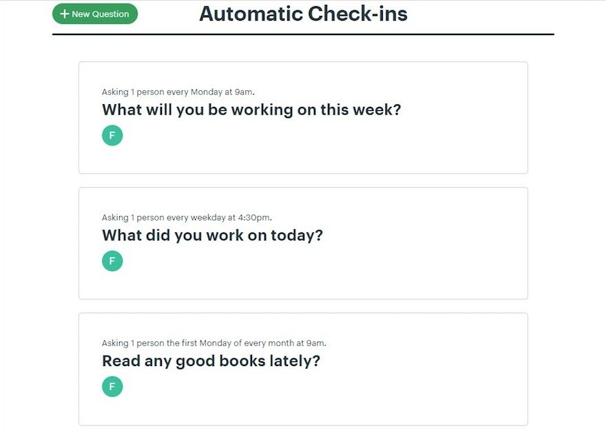 automatic check-ins