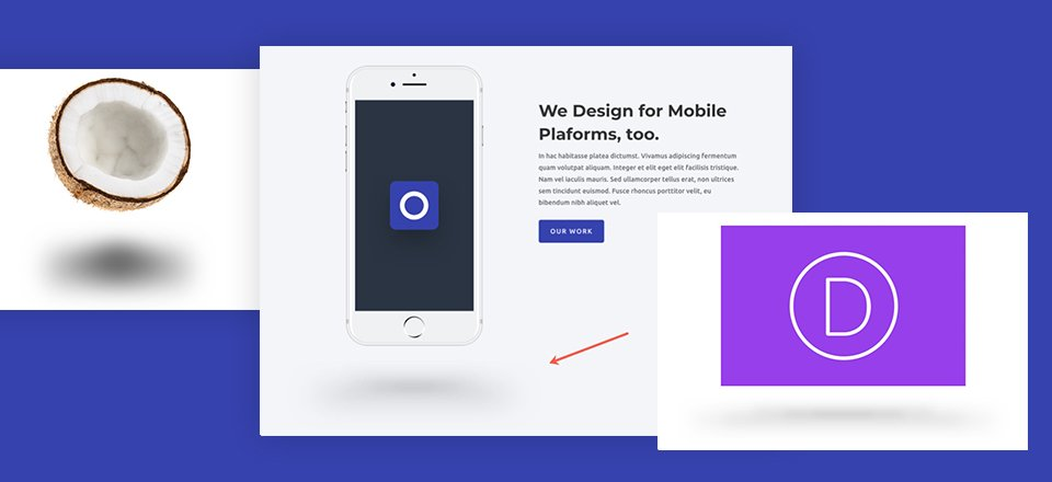 """How to Create """"Floating"""" Objects in Divi Using Dropshadow"""