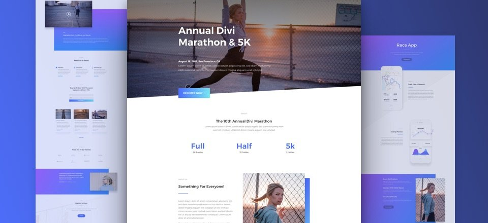 Get a FREE Marathon Layout Pack for Divi