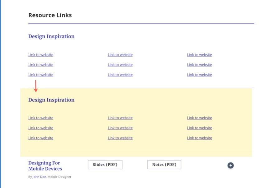 duplicate link rows