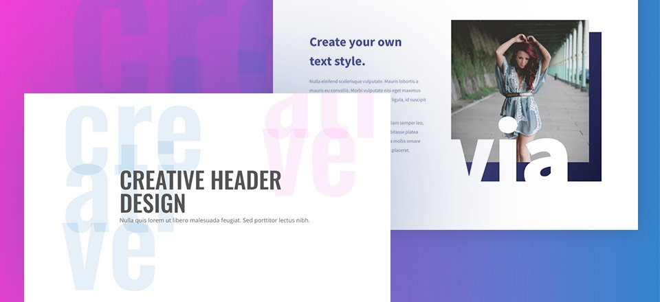 How to Use Text as an Abstract Design Element in Divi