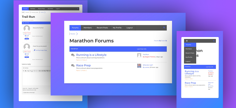 How to Add a Forum to Your Website with Divi's Marathon Layout Pack