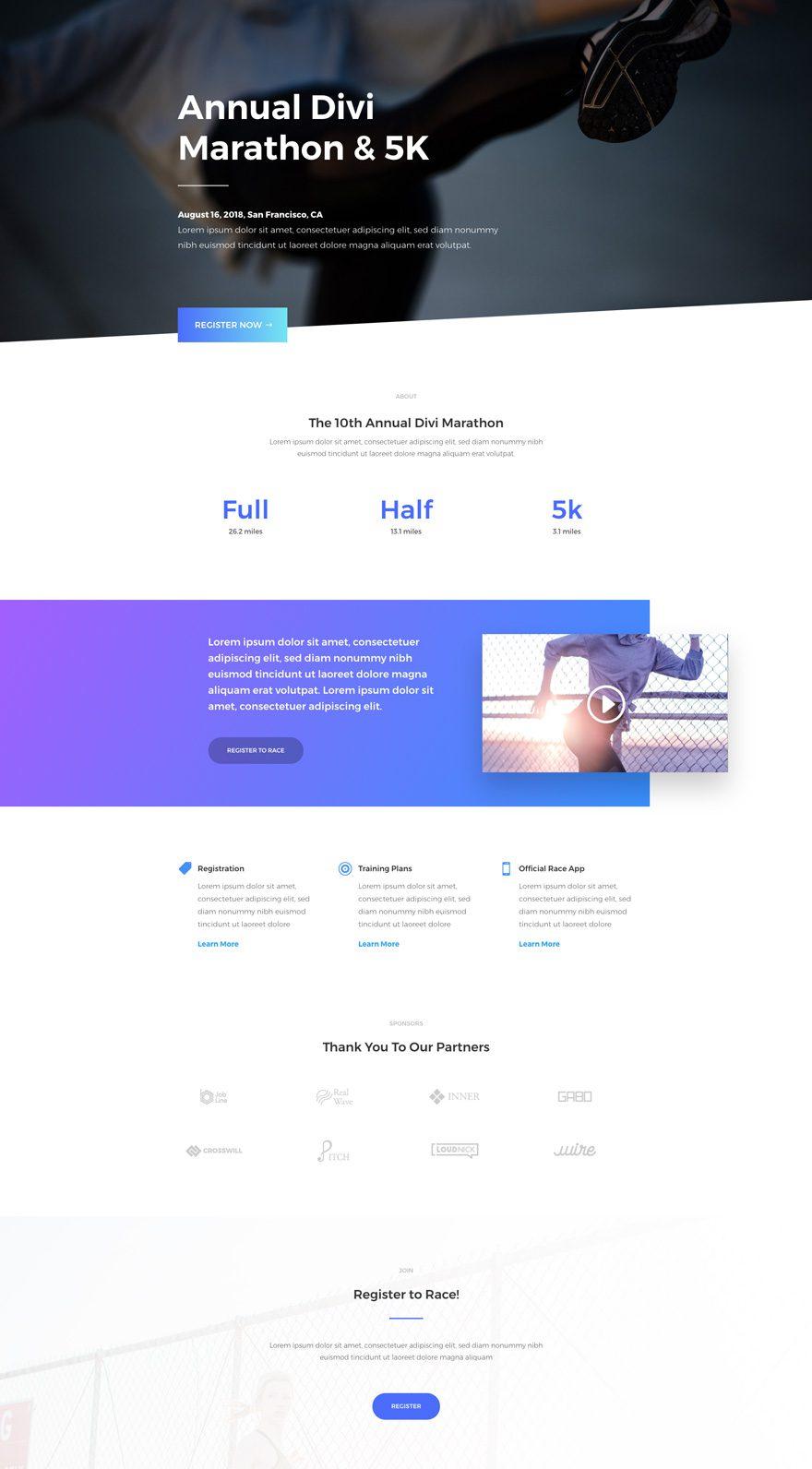marathon home page
