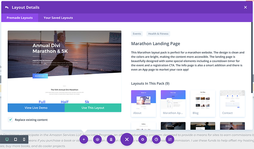 marathon-pack-in-divi-library