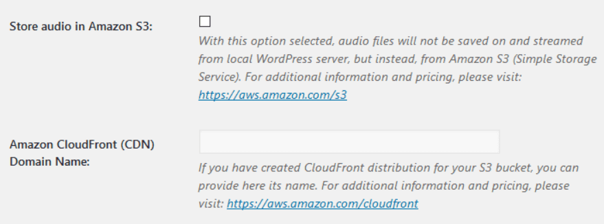 Configuring where the Amazon Polly plugin stores its audio output.