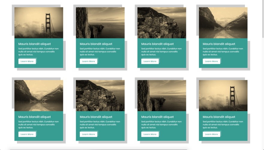 grid layout sepia example
