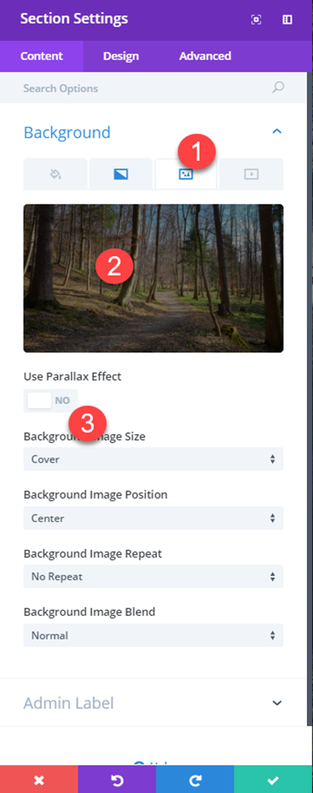 Divi builder opacity and negative margins
