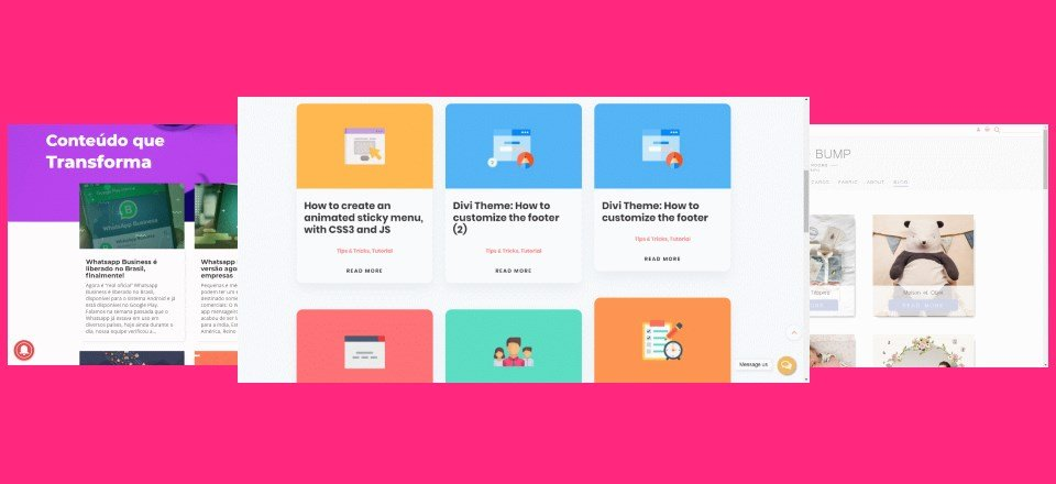 11 Divi Websites with Cool Blog Layouts