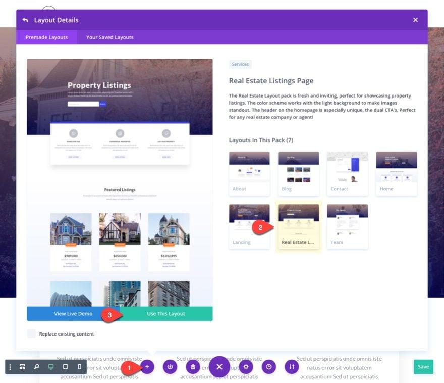 add listings layout