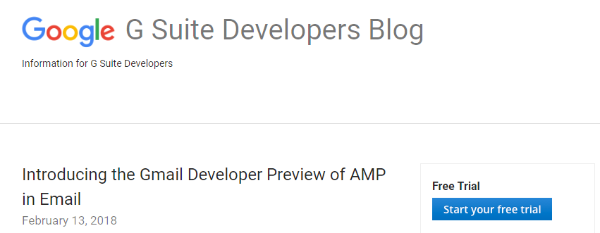 The AMP for email project.