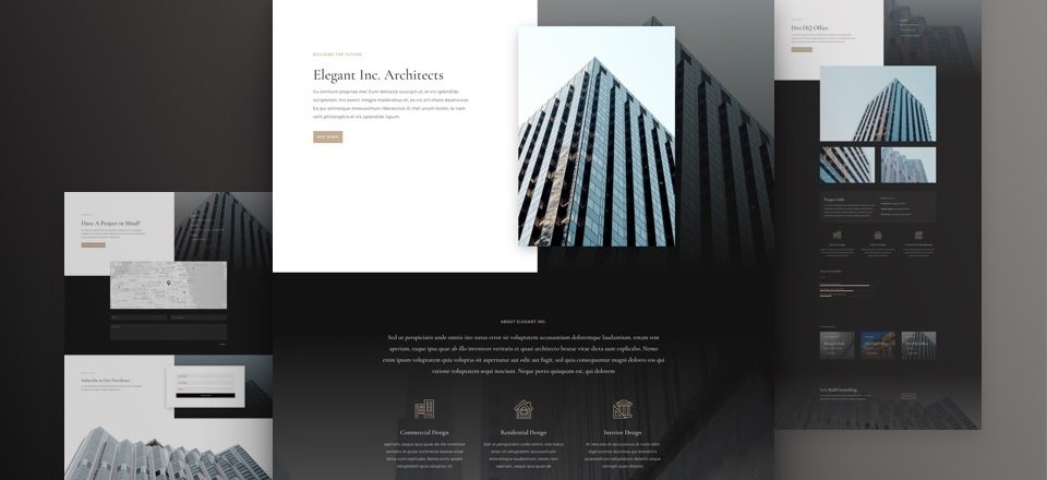Get a FREE Architecture Firm Layout Pack for Divi
