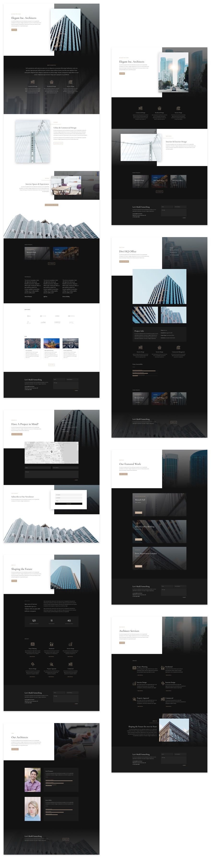 Get a FREE Architecture Firm Layout Pack for Divi | Elegant