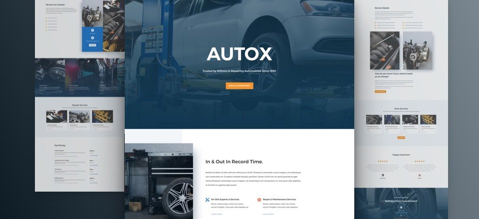 Get a FREE & Professional Divi Auto Repair Layout Pack