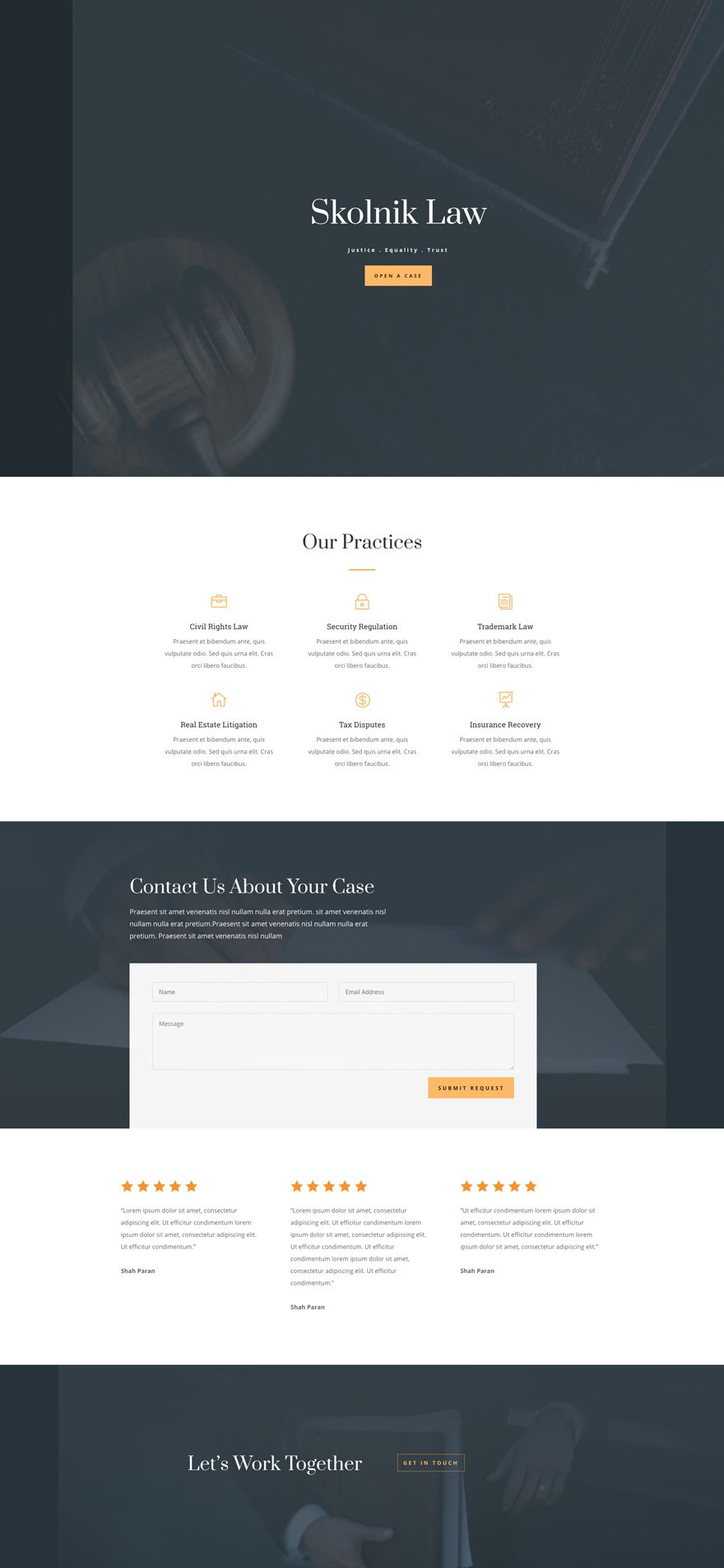 law firm layout