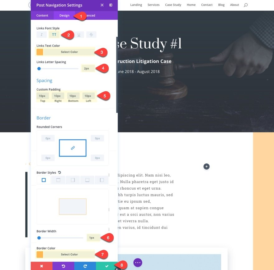 case studies post navigation design