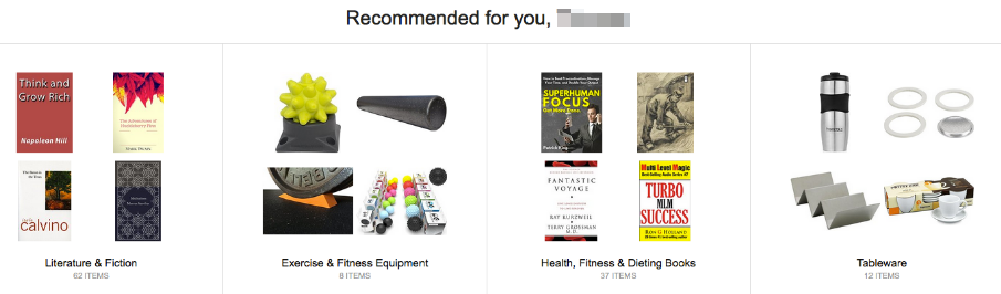 Amazon's product recommendations.