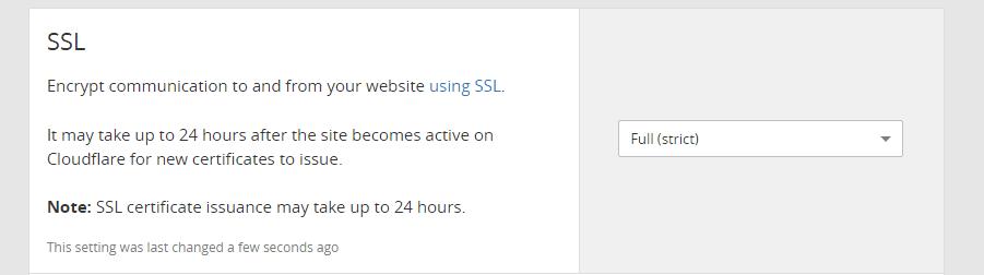 Tweaking your Cloudflare SSL settings.