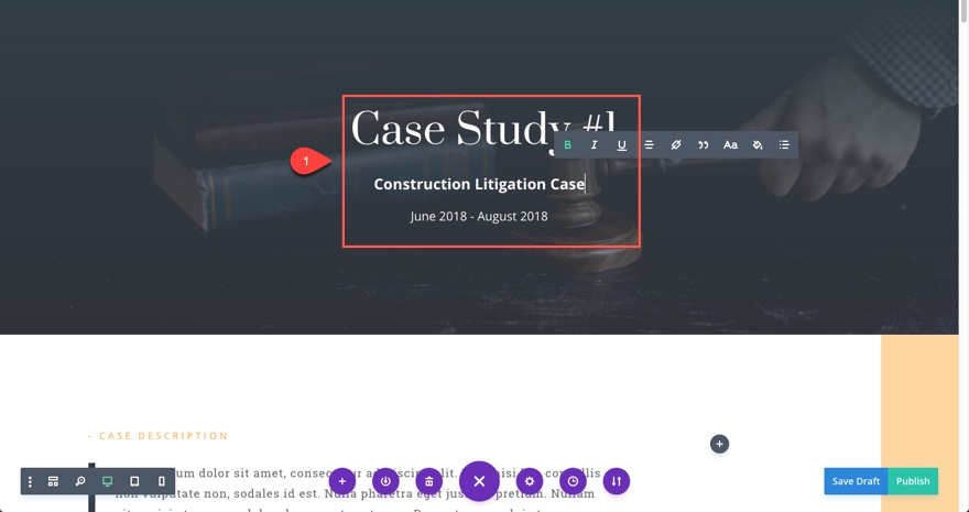 case studies update title