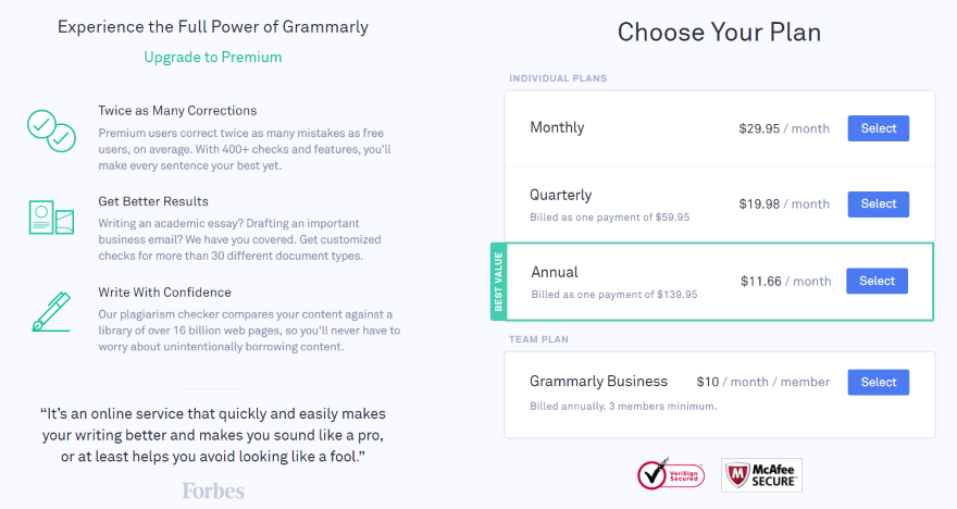 Grammarly: A Detailed Overview and Review Pricing Plans